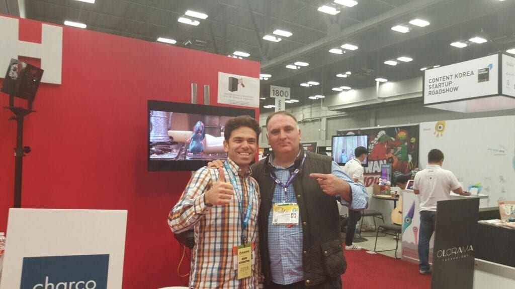 Jose Andres and Raul Porcar (our CEO)